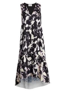 3.1 Phillip Lim Abstract Sleeveless Flounce Dress