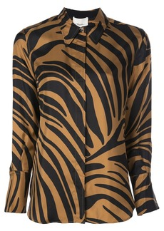 3.1 Phillip Lim abstract tiger-print blouse