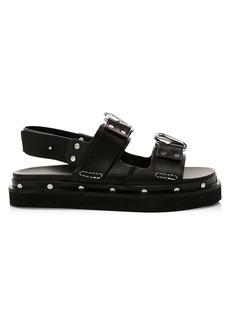 3.1 Phillip Lim Alix Flatform Leather Slingback Sandals