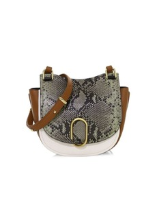 3.1 Phillip Lim Alix Python Print & Leather Saddle Bag