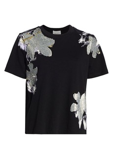 3.1 Phillip Lim Allover Abstract Daisy-Print Jersey Tee
