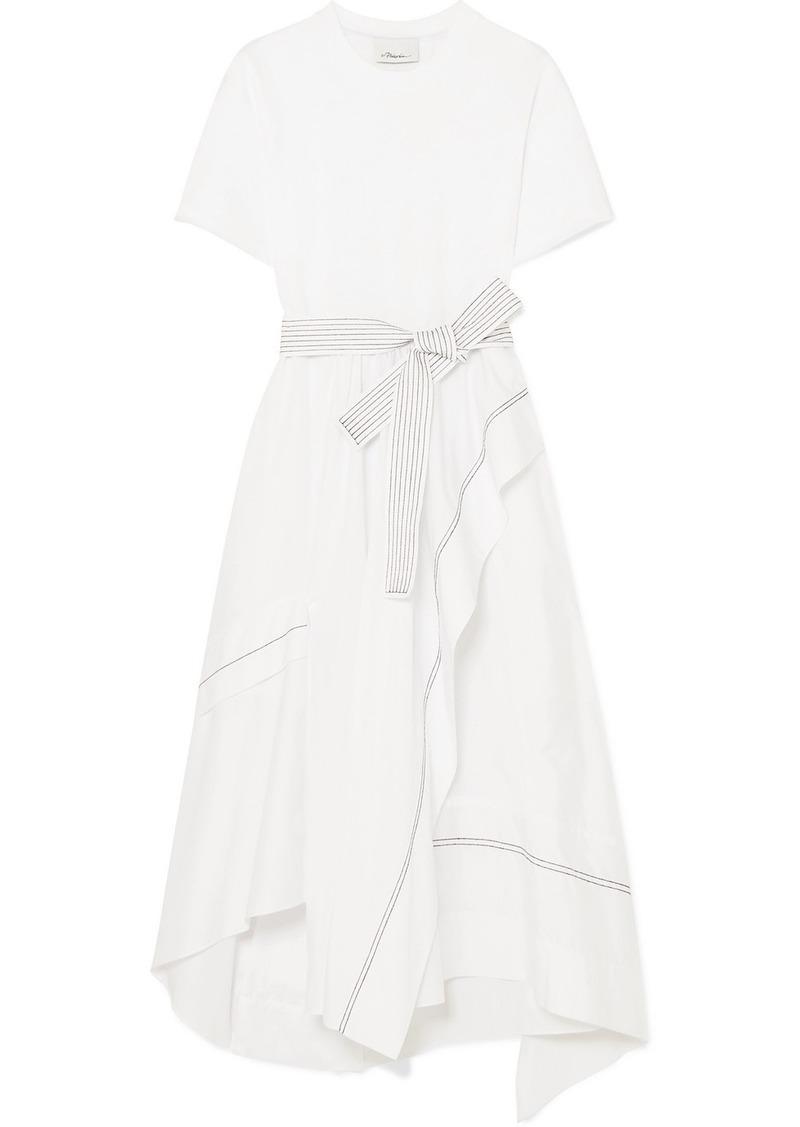 3.1 Phillip Lim Asymmetric Belted Cotton-poplin Dress