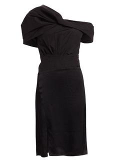 3.1 Phillip Lim Asymmetric Drape-Sleeve Cocktail Dress