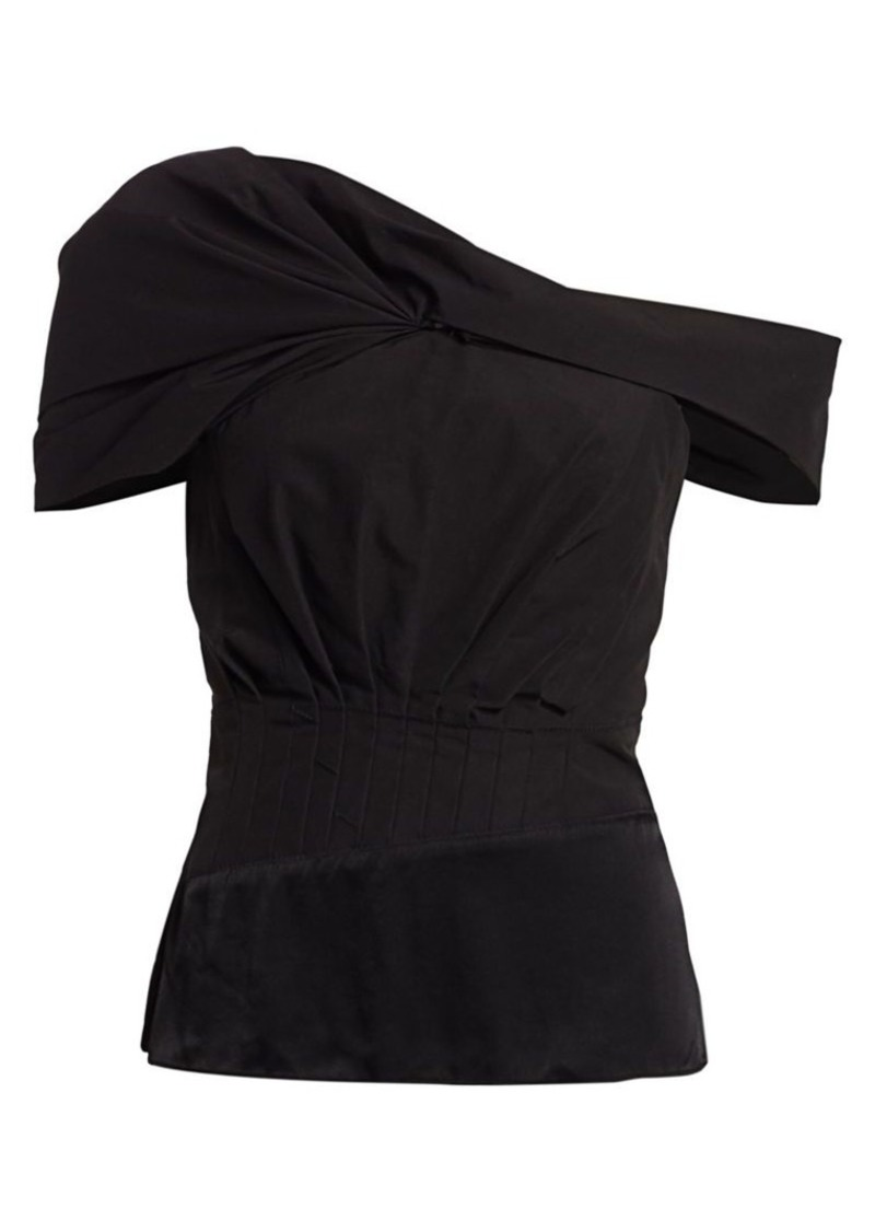 3.1 Phillip Lim Asymmetric Drape-Sleeve Top