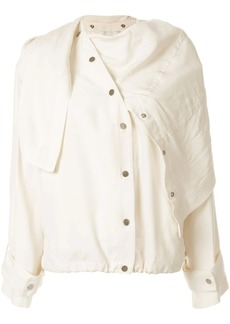 3.1 Phillip Lim asymmetric draped jacket