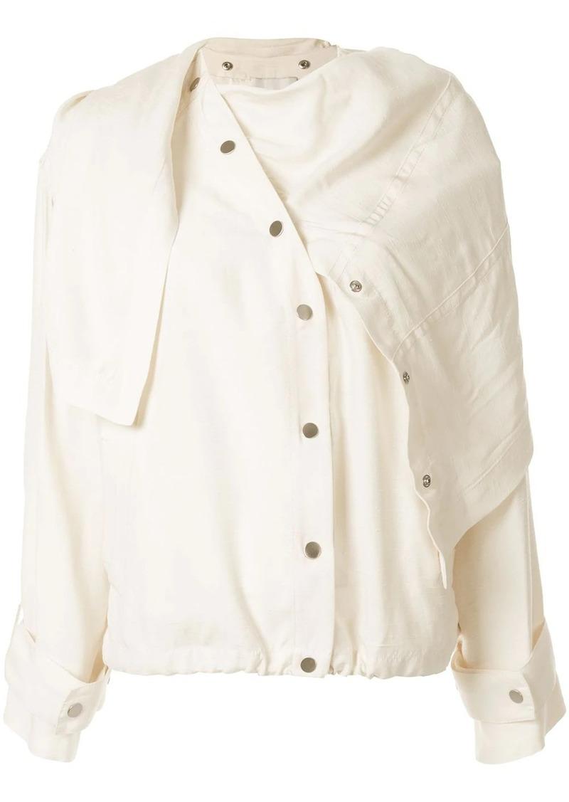 3.1 Phillip Lim asymmetric draped jacket