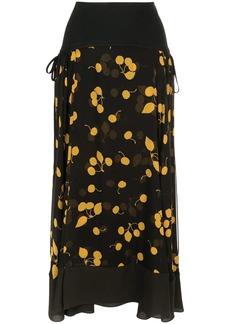 3.1 Phillip Lim asymmetric floral skirt