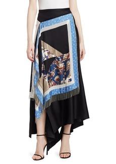 3.1 Phillip Lim Asymmetric Patchwork Maxi Skirt