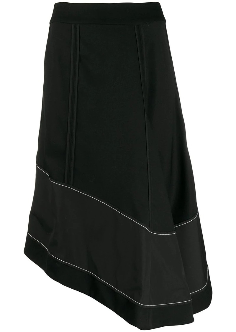 3.1 Phillip Lim asymmetric wool and cotton skirt