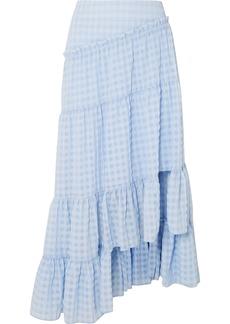 3.1 Phillip Lim Asymmetric Tiered Seersucker Skirt