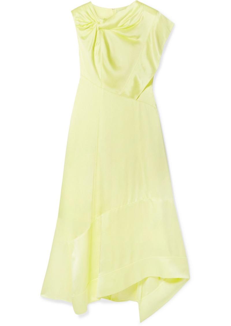 3.1 Phillip Lim Asymmetric Twist-front Satin Dress