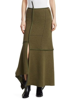 3.1 Phillip Lim Asymmetrical Seamed Patch Maxi Skirt