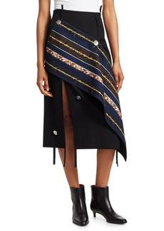 3.1 Phillip Lim Asymmetrical Wool Midi Skirt