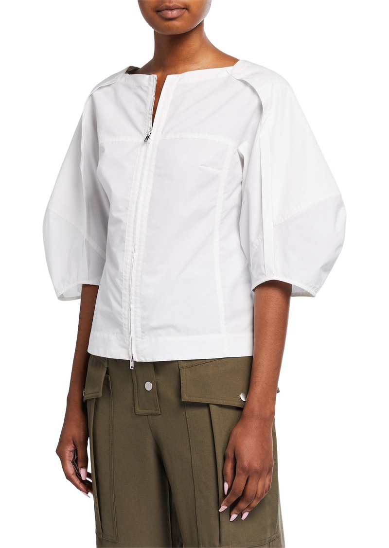 3.1 Phillip Lim Balloon-Sleeve Zip Top
