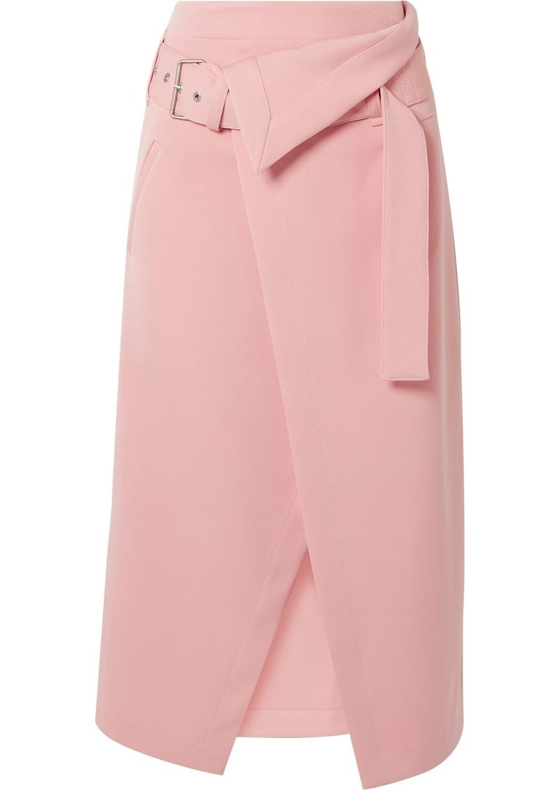 3.1 Phillip Lim Belted Asymmetric Twill Wrap Skirt