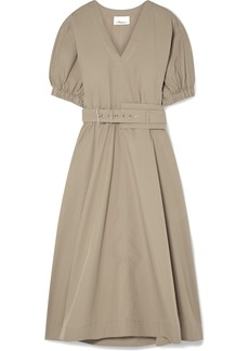 3.1 Phillip Lim Belted Cotton-blend Poplin Midi Dress