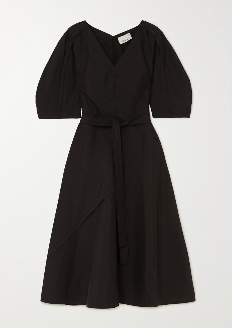 3.1 Phillip Lim Belted Cotton-blend Poplin Midi Dress
