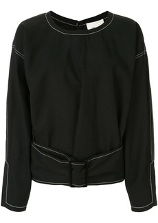 3.1 Phillip Lim Belted Denim Pullover Top