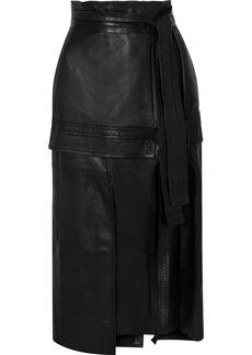 3.1 Phillip Lim Belted Leather Midi Skirt