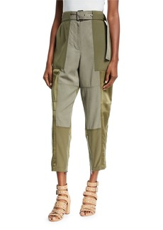 3.1 Phillip Lim Belted Patchwork Cargo Pants