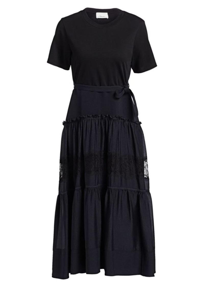 3.1 Phillip Lim Belted Tiered T-Shirt Midi Dress