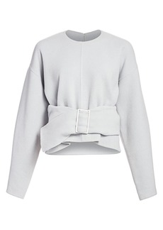 3.1 Phillip Lim Belted Wool Blend Oversized Sweater