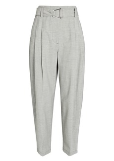 3.1 Phillip Lim Belted Wool Chambray Utility Pants