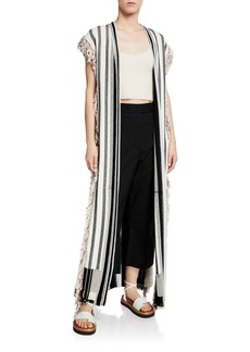 3.1 Phillip Lim Berber Fringed Long Knit Vest