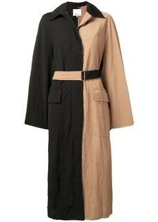 3.1 Phillip Lim bicolour long trench coat