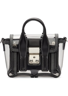 3.1 Phillip Lim Black & Transparent Mini Pashli Satchel