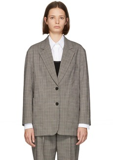3.1 Phillip Lim Black & White Check Oversized Blazer