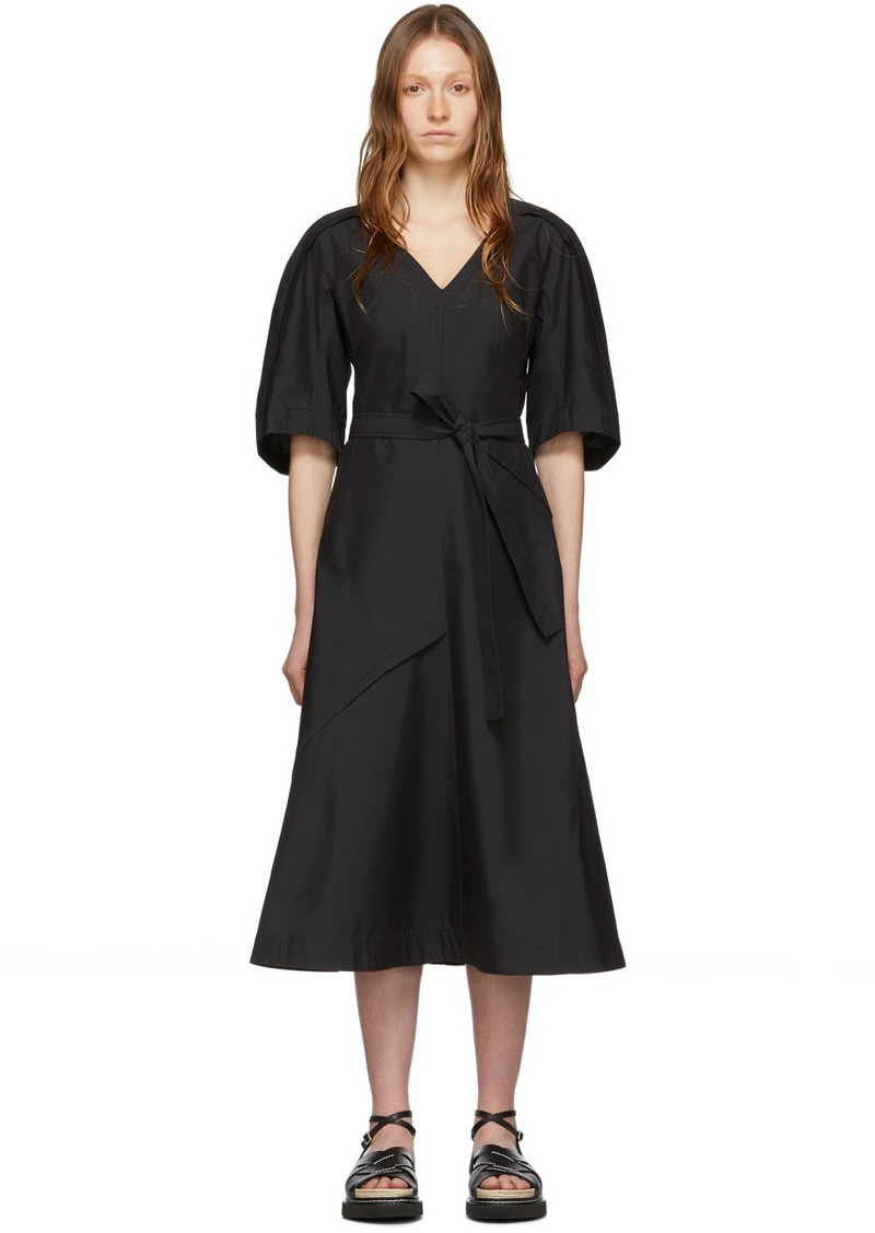 3.1 Phillip Lim Black Balloon Sleeve Dress