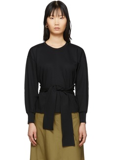 3.1 Phillip Lim Black Belt Tie Pullover