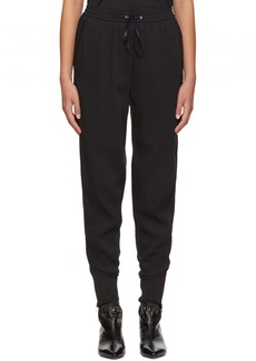3.1 Phillip Lim Black Crepe Jogger Trousers