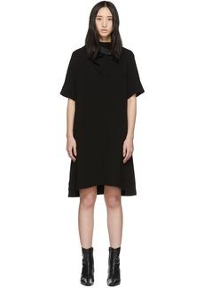 3.1 Phillip Lim Black Crepe Removable Scarf Dress