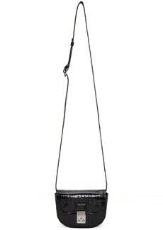 3.1 Phillip Lim Black Croc Mini Pashli Saddle Bag