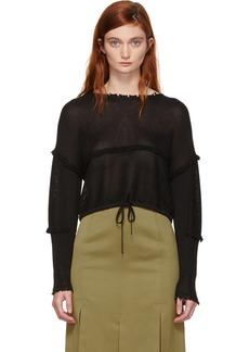 3.1 Phillip Lim Black Cropped Sweater