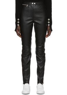 3.1 Phillip Lim Black Leather Moto Stretch Leggings