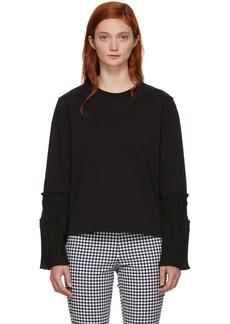 3.1 Phillip Lim Black Long Sleeve Pleated Cuff T-Shirt