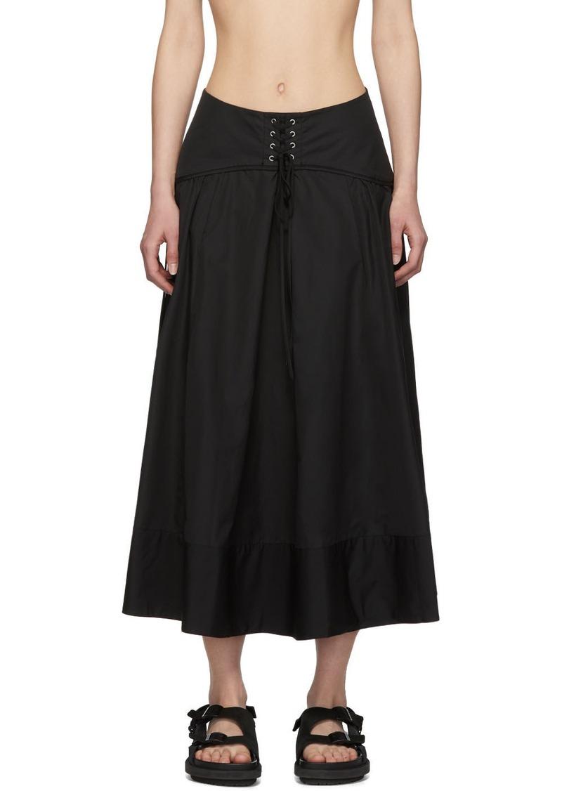 3.1 Phillip Lim Black Poplin Corset Skirt