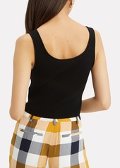 3.1 Phillip Lim Black Ribbed Cropped Tank