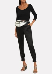 3.1 Phillip Lim Black Ribbed Cropped Top