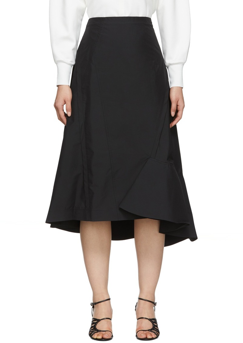 3.1 Phillip Lim Black Ruffle Hem Skirt