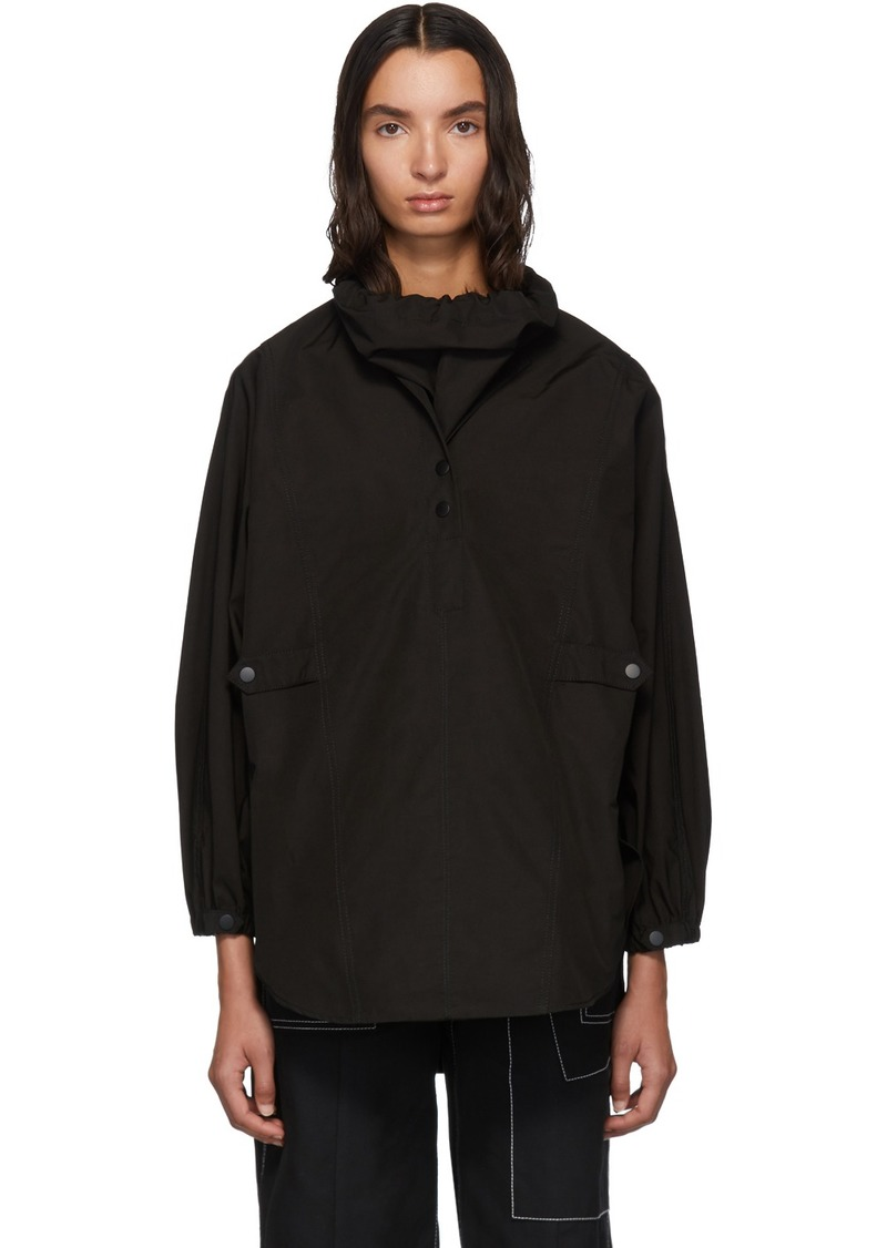3.1 Phillip Lim Black Scarf Neck Cocoon Blouse