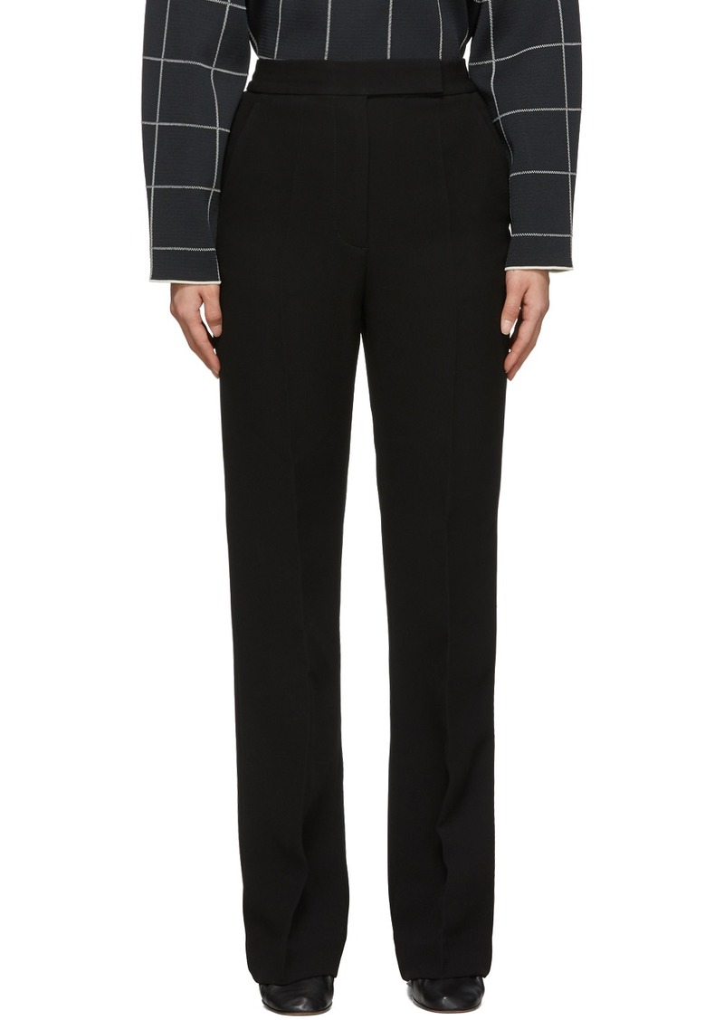 3.1 Phillip Lim Black Topstitch Cady Trousers