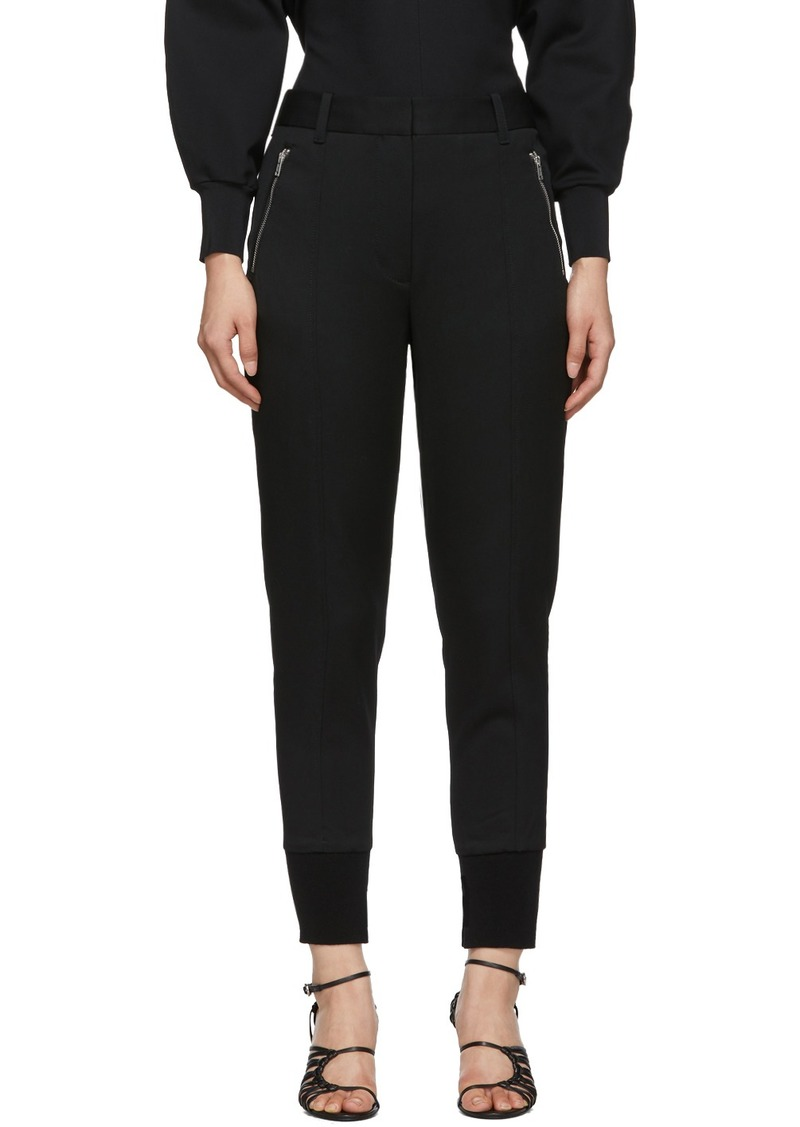 3.1 Phillip Lim Black Wool Jogger Trousers