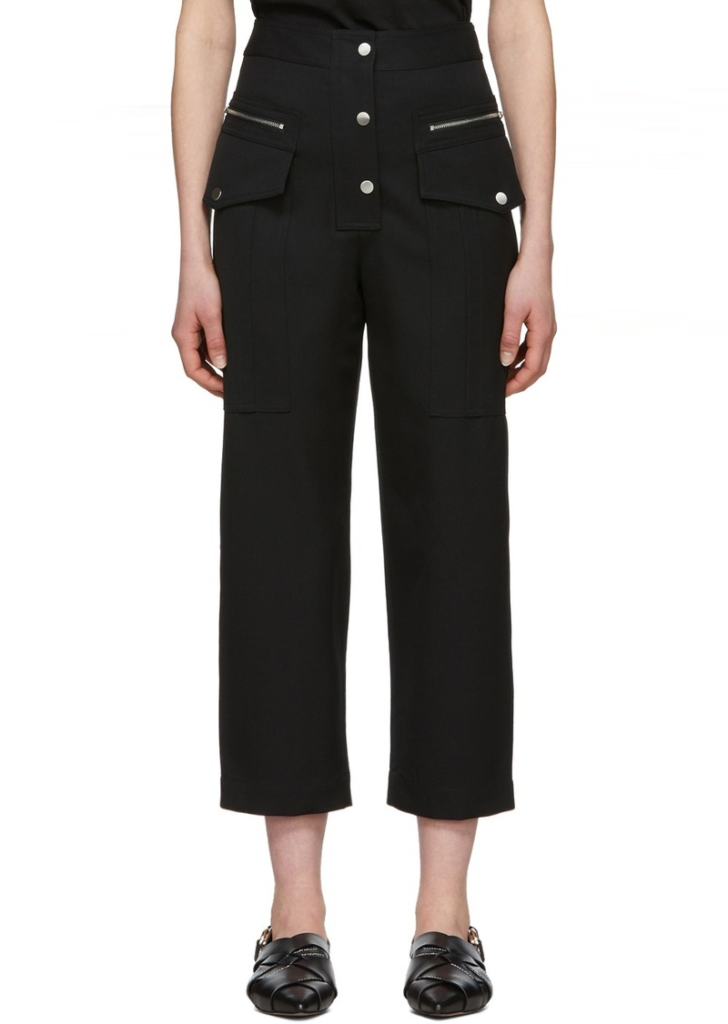 3.1 Phillip Lim Black Wool Snap Cargo Pants