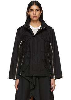 3.1 Phillip Lim Black Zippered Field Jacket