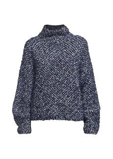 3.1 Phillip Lim Bouclé Jacquard Wool-Blend Turtleneck Sweater