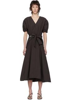 3.1 Phillip Lim Brown Gathered Utility Dress
